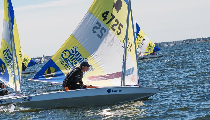David Hernández, quinto lugar en Mundial Sunfish de Vela 2017