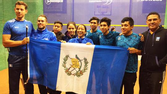 Delegación de Guatemala en el Panamericano Mayor de Squash 2017