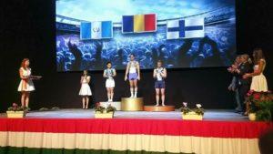 Podio Jorge Vega en Copa Mundo de Gimnasia