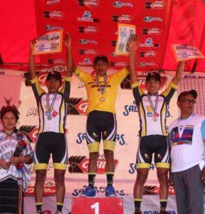 Podio de la Pre Vuelta Chimazat de Ciclismo 2017