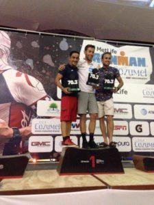 Podio de Vergara en el Ironman Cozumel 2017