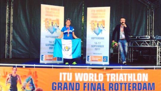 Vivian Morales en la Final del Mundial ITU 2017 de Triatlón