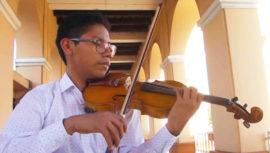 Adrian Sequén, violinista de San Juan Sacatepéquez estudiará en Francia