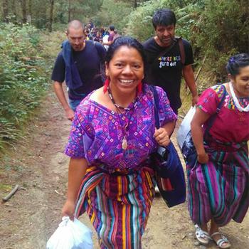Aura Chávez, maestra de Quiché
