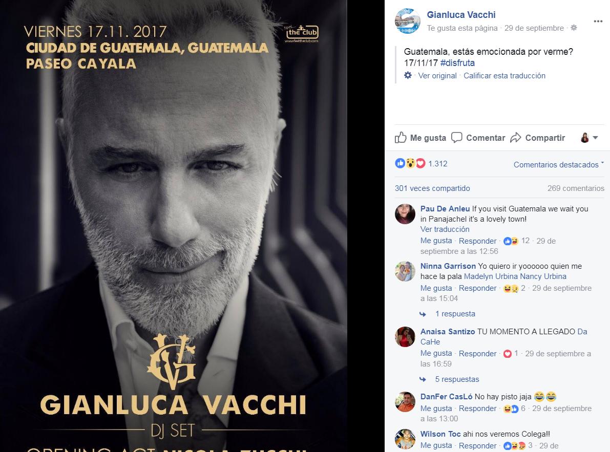 (Foto: Captura perfil oficial de Gianluca Vacchi)