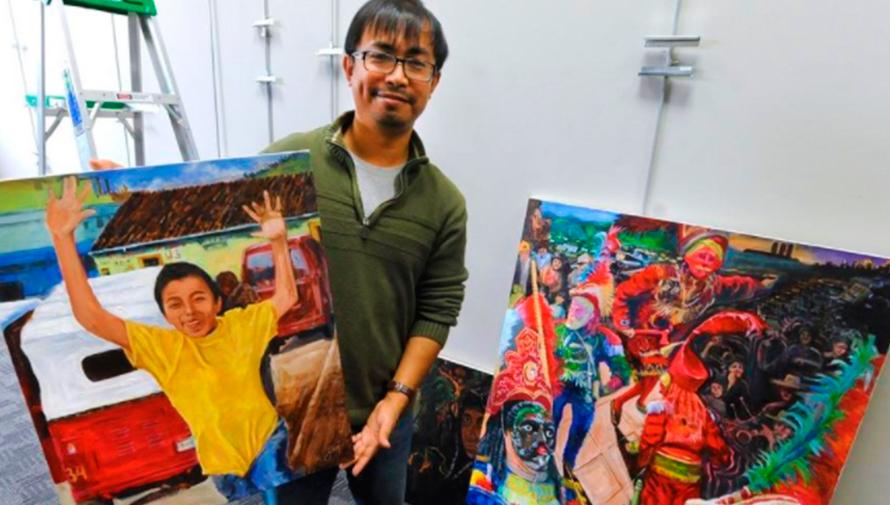 Exhiben obras de arte de Nebaj en biblioteca de Estados Unidos