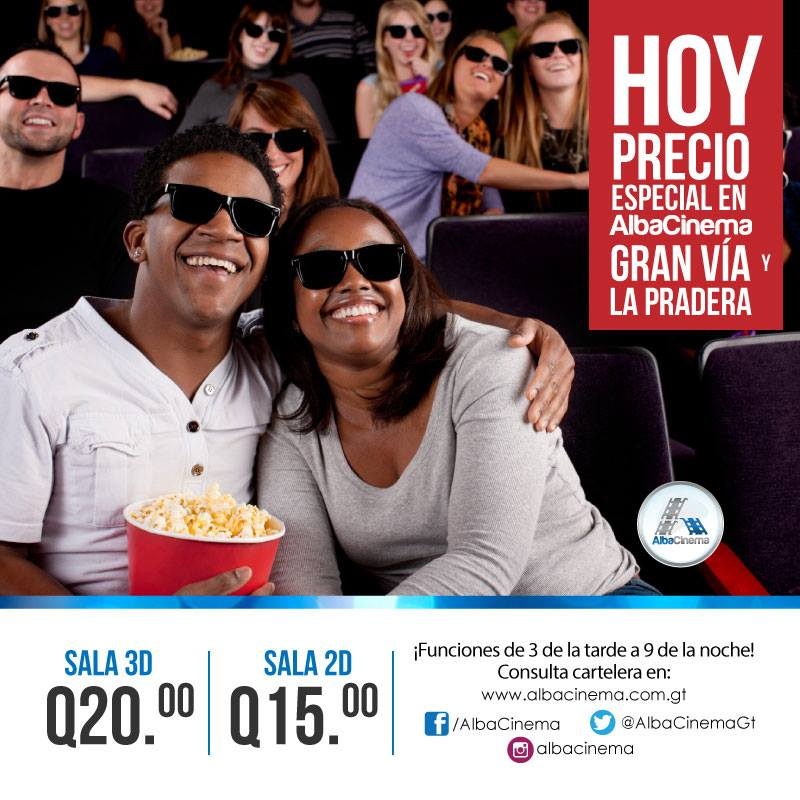 Promociones cine en Guatemala