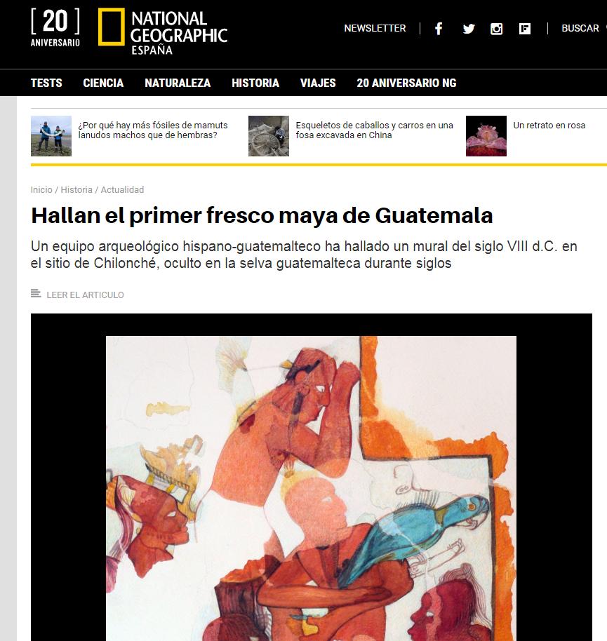 Natgeo Resalto El Primer Fresco Maya Del Sitio Arqueologico