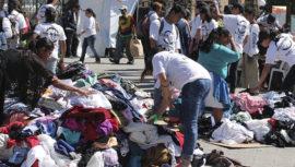 Dona tu ropa y víveres para víctimas de un incendio en Guatemala