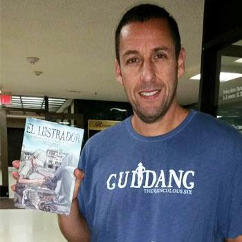 El Lustrador libro de autor guatemalteco que es leído por famosos Adam Sandler