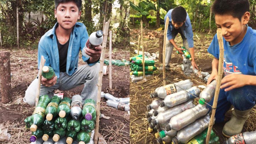 Guatemaltecos construyen una casa con ladrillos ecológicos en Alta Verapaz 2017