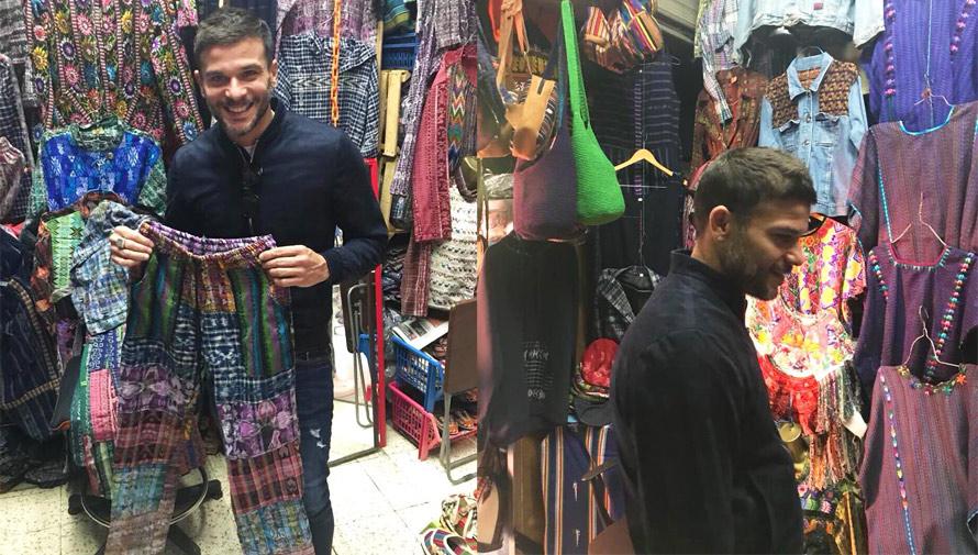Pedro Capó, cantante puertoriqueño, visitó el Mercado Central de Guatemala