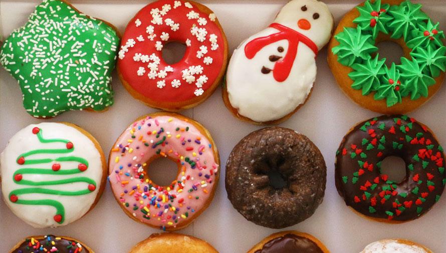 Promoción de donas navideñas en Dunkin Donuts 2017