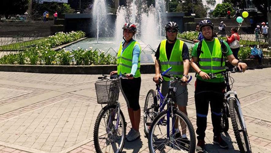 Tour en bicicleta por plazas de la Ciudad de Guatemala   Noviembre 2017