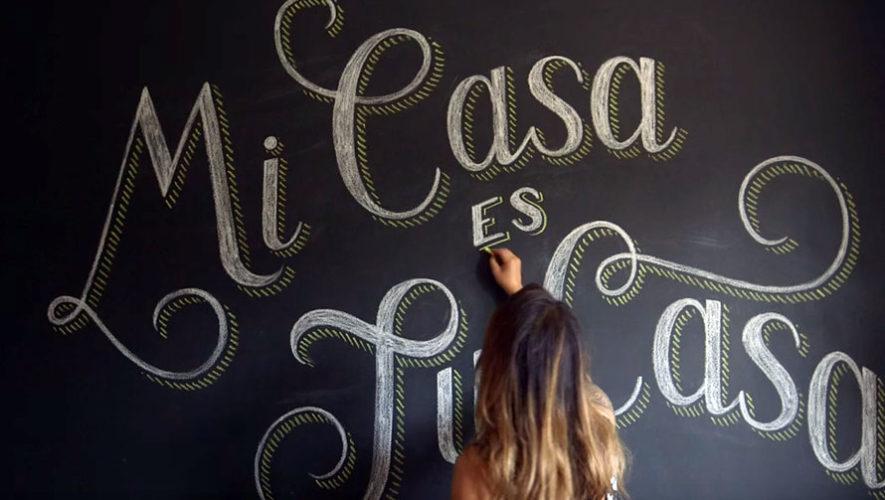 Taller de lettering básico con yeso | Noviembre 2017