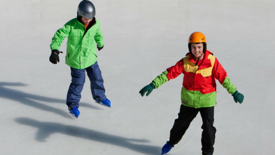 Pista de patinaje sobre hielo en Mixco | Diciembre 2017