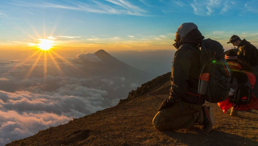 Ascenso nocturno al Volcán Acatenango   Enero 2018