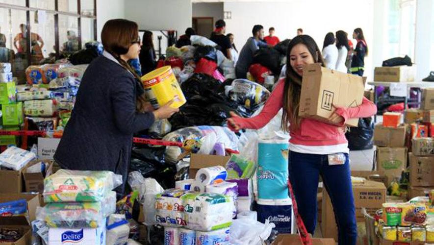 Dona víveres para ayudar a las familias de San Marcos, diciembre 2017