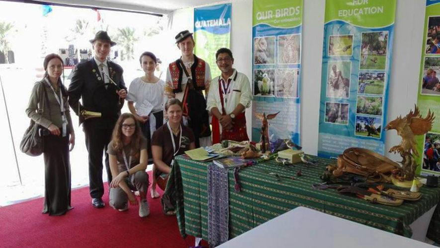 Guatemala participó por primera vez en el Festival Internacional de Cetrería