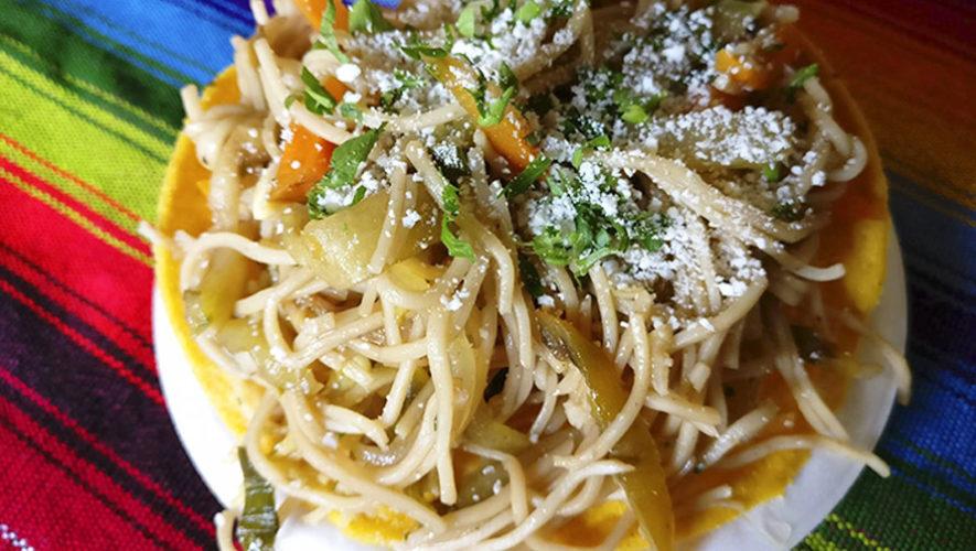 Las Tostadas de Chow Mein guatemaltecas destacaron en medio internacional