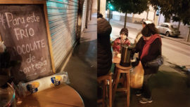 Restaurante en la Ciudad de Guatemala regaló chocolate a las personas por el frío