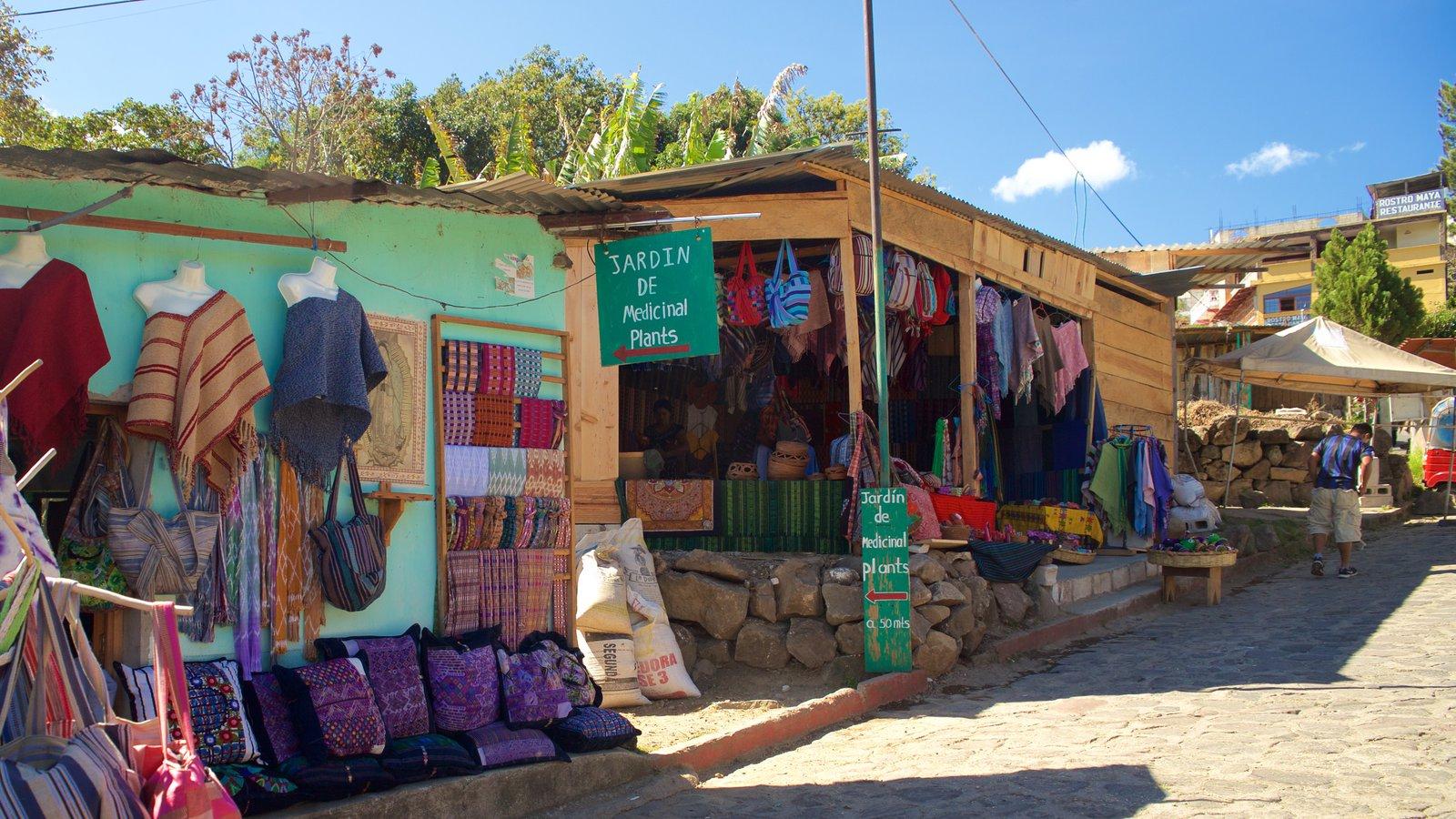 Tiendas de tejidos San Juan La Laguna