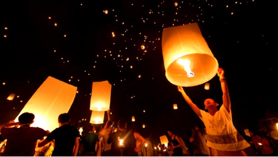 Paseo en globo aerostático y liberación de globos en Laguna del Pino | Diciembre 2016