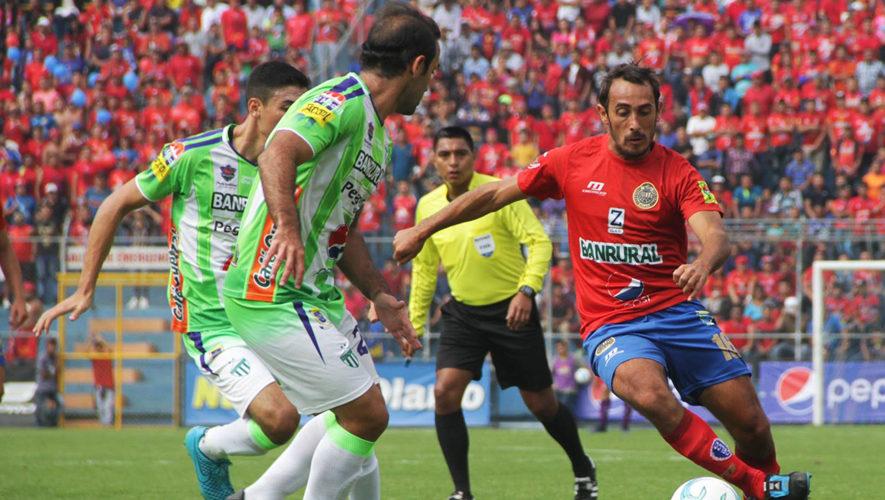 Partido de ida Municipal y Antigua por la final del Torneo Apertura   Diciembre 2017