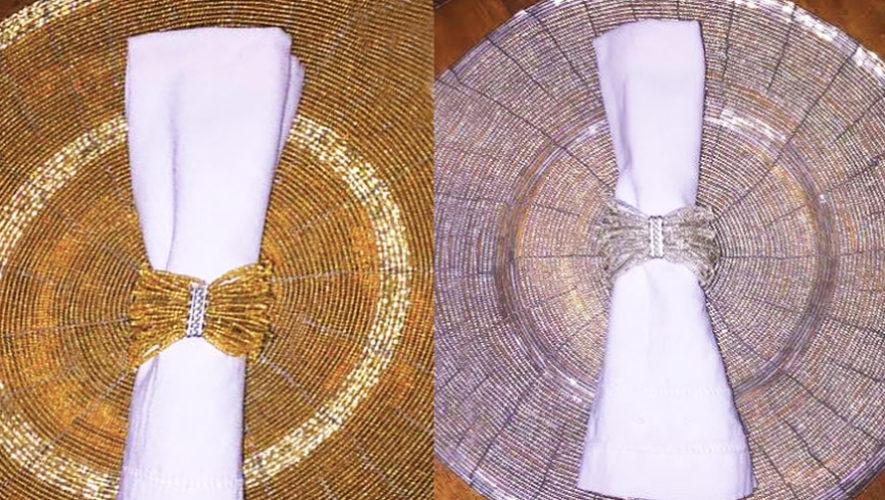 La guatemalteca Adriana Godoy crea anillos para servilletas