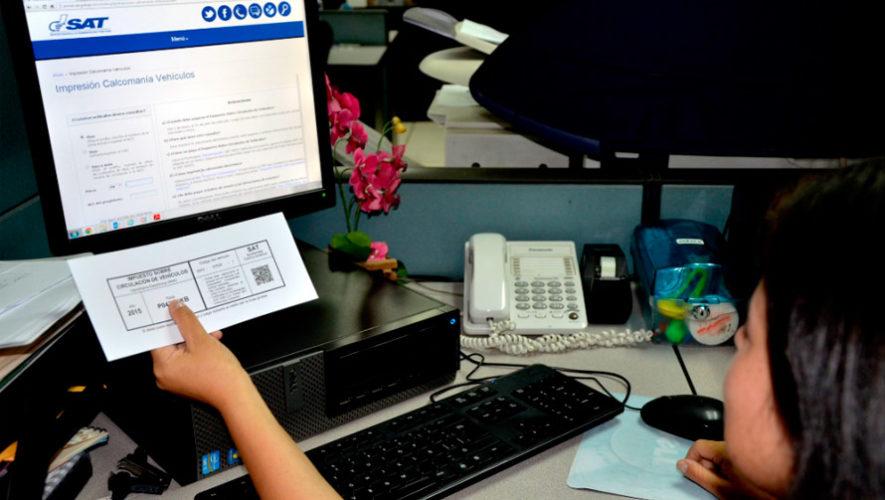 Cómo pagar la calcomanía del impuesto sobre circulación de la SAT en Guatemala