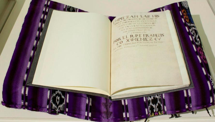Copia idéntica del Popol Vuh se encuentra en la Universidad Francisco Marroquín, Ciudad de Guatemala