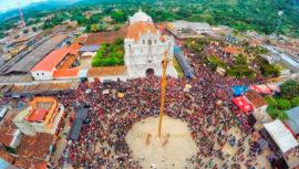 Cubulco celebra su fiesta patronal con la Danza del Palo Volador, julio 2018