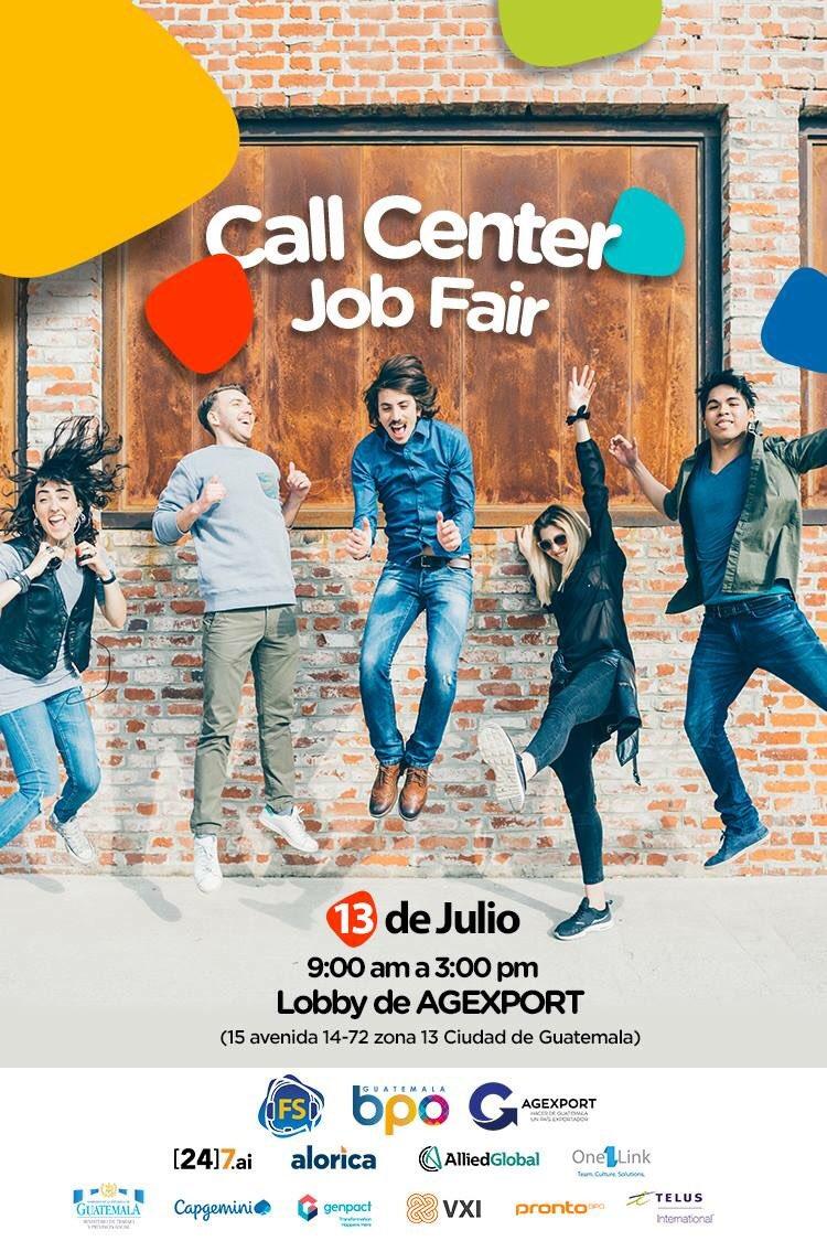 Feria De Empleo Para Call Center En La Ciudad De Guatemala Julio 2018