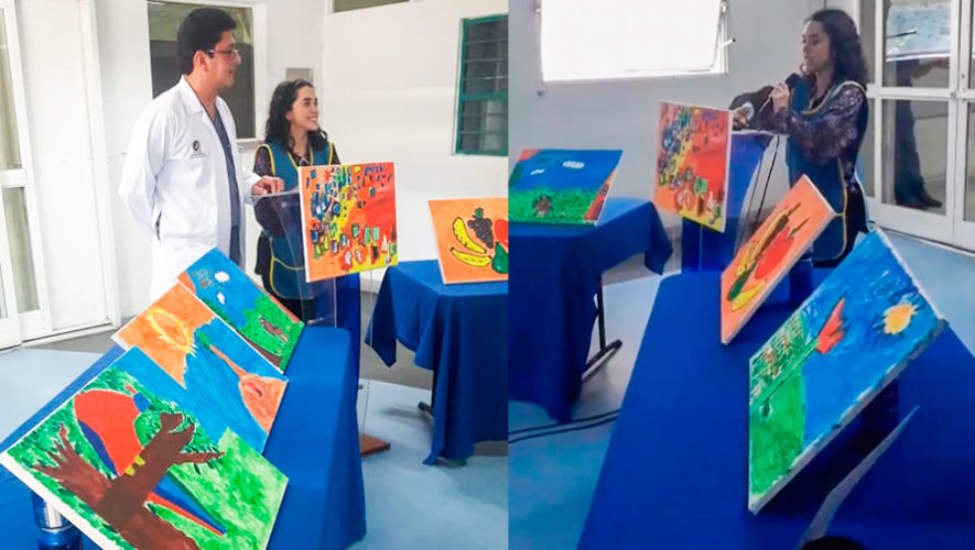 Subasta de 80 cuadros pintados por niños y jóvenes del Hospital Roosevelt