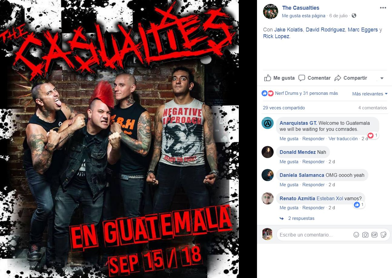 (Créditos: The Casualties)