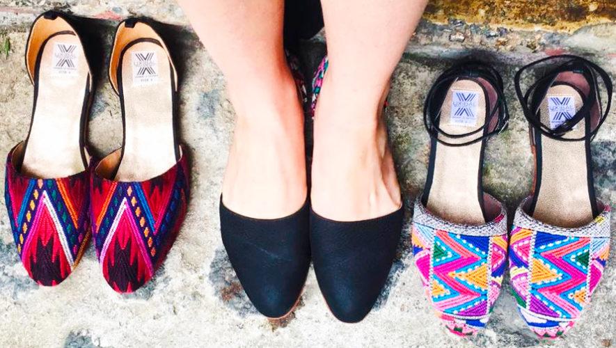 Uxibal fabrica zapatos con textiles mayas