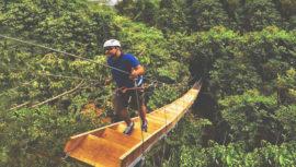 Puentes ubicados en medio de bosques y selvas de Guatemala