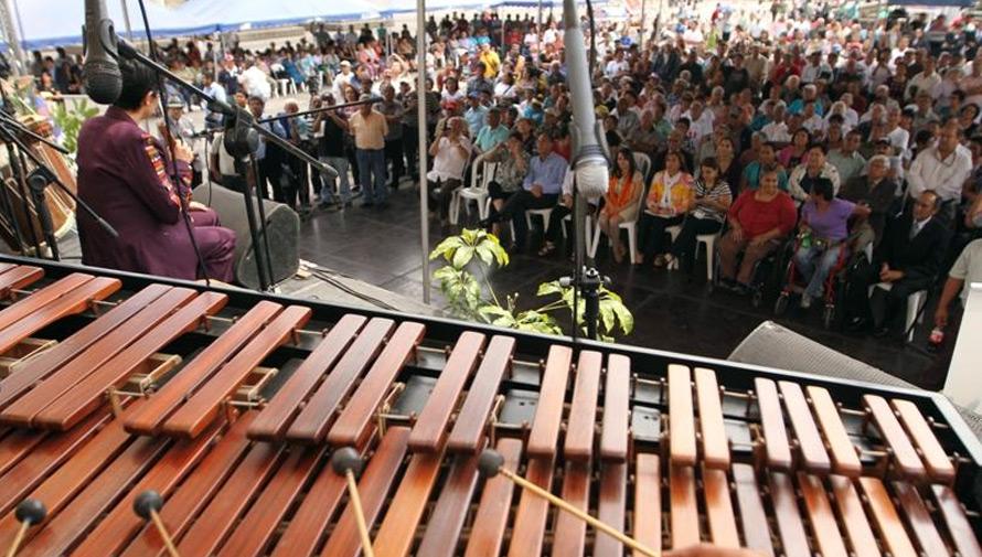 Concierto gratuito de marimba en la Plaza Mayor de la Constitución
