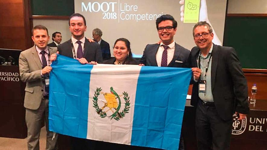 Equipo guatemalteco ganó el segundo lugar en Moot Competencia 2018 en Perú