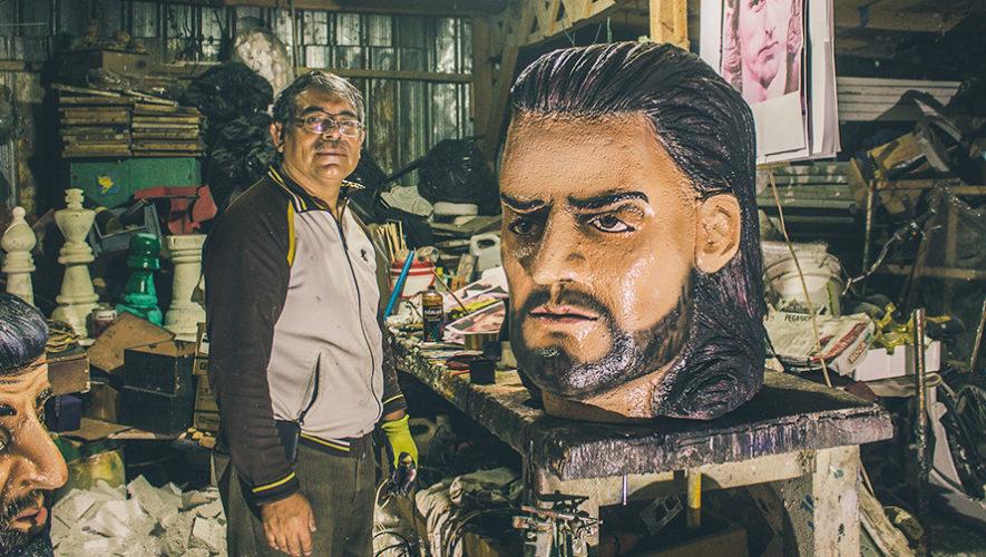 Escultura de Ricardo Arjona fue realizada por originario de Alta Verapaz