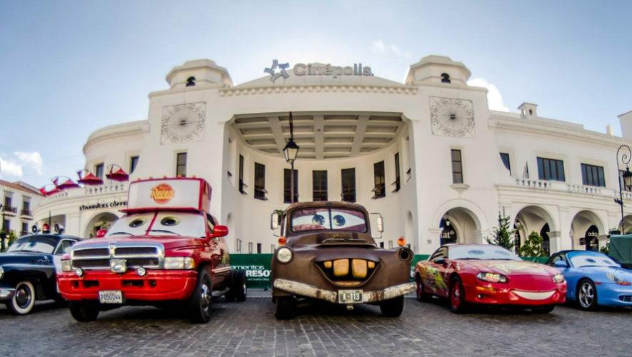 Exhibición de personajes de Cars en Cayalá | Agosto 2018