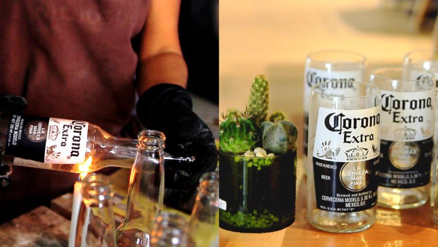 Ambev Guatemala recicla todas sus botellas para convertirlas en vasos, macetas o velas