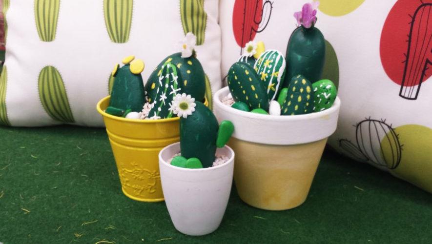 Taller de cactus con piedras para niños en Saúl L'Osteria | Septiembre 2018