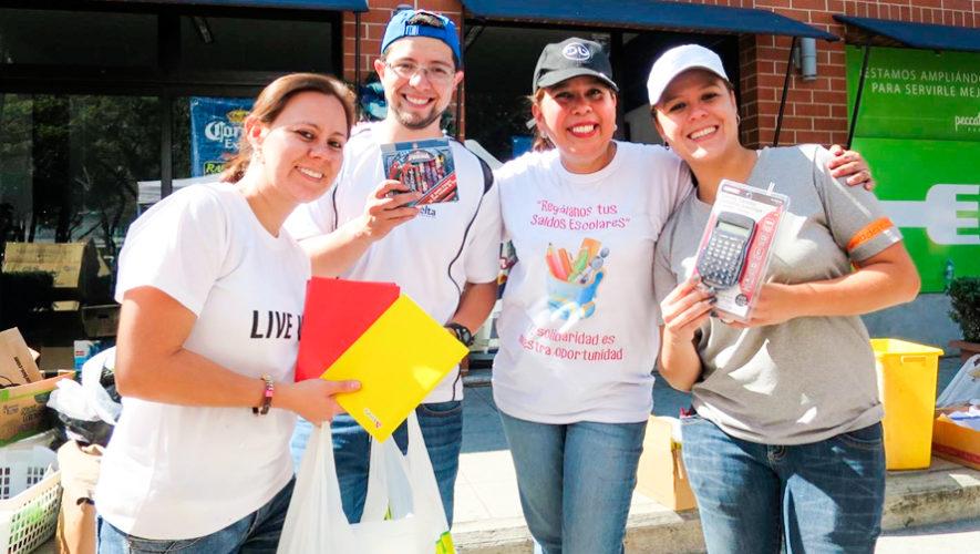 Convocatoria de voluntarios para recaudar útiles escolares en Guatemala, 2018