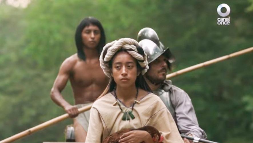María Mercedes Coroy actúa en la serie mexicana Malinche