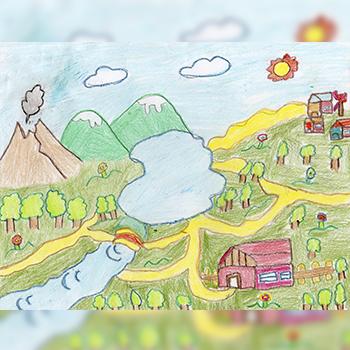 Niños crearon dibujos para beneficiar a afectados por el Volcán de Fuego