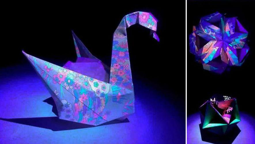 Primera exposición de origami fluorescente en Guatemala | Octubre 2018