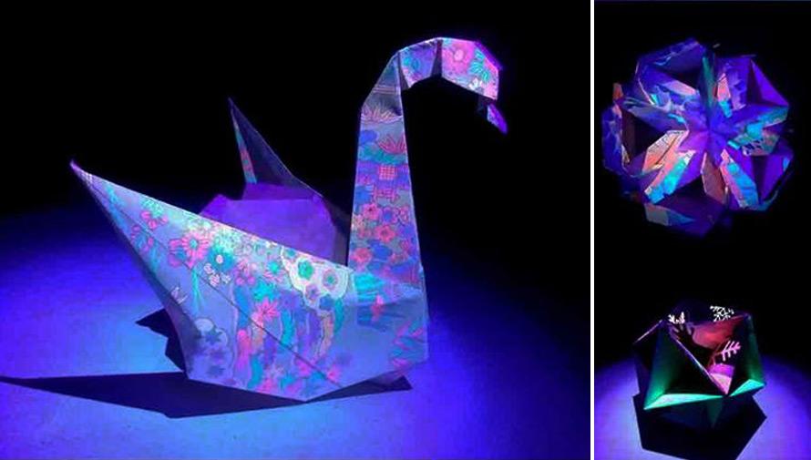 Primera exposición de origami fluorescente en Guatemala