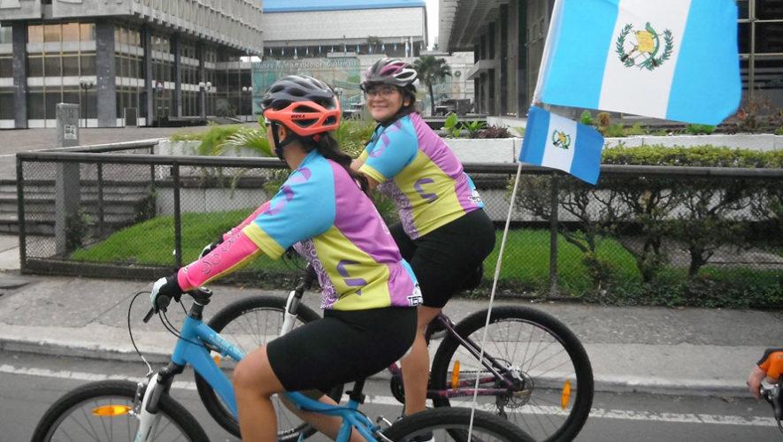 Recorrido en bicicleta solo para mujeres en Ciudad de Guatemala   Octubre 2018