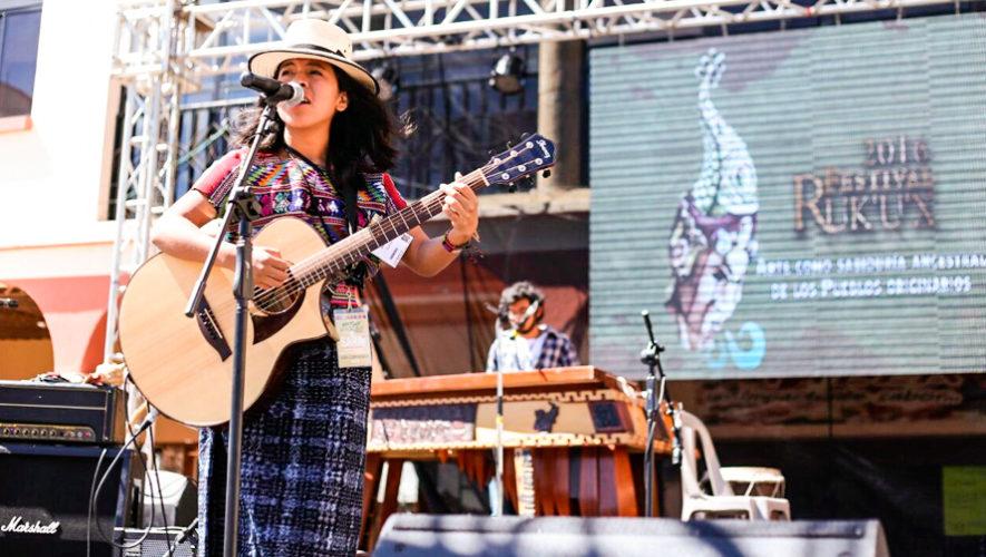 Sara Curruchich participó en el Festival Esperanzah en España, 2018